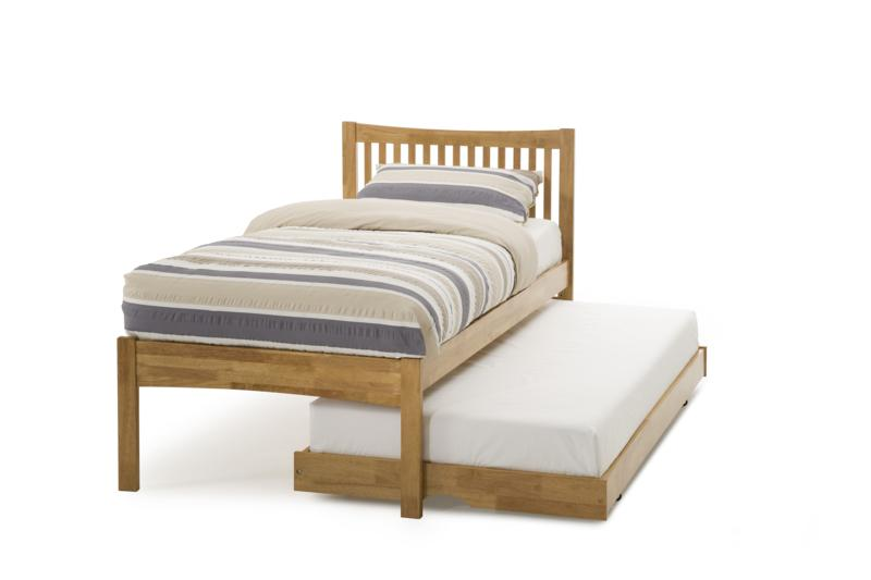 Serene Mya Honey Oak Wooden Guest Bed